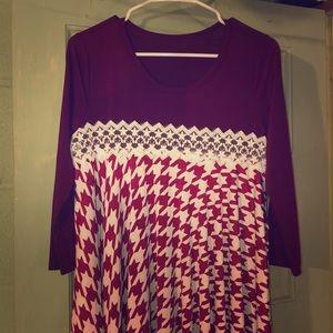 Dresses & Skirts - Houndstooth Print Asymmetrical Dress